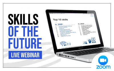 ¡Únete a nuestro webinar y hablemos de las habilidades del futuro!