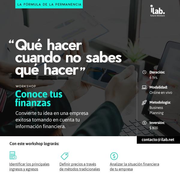workshop online para negocios conoce tus finanzas