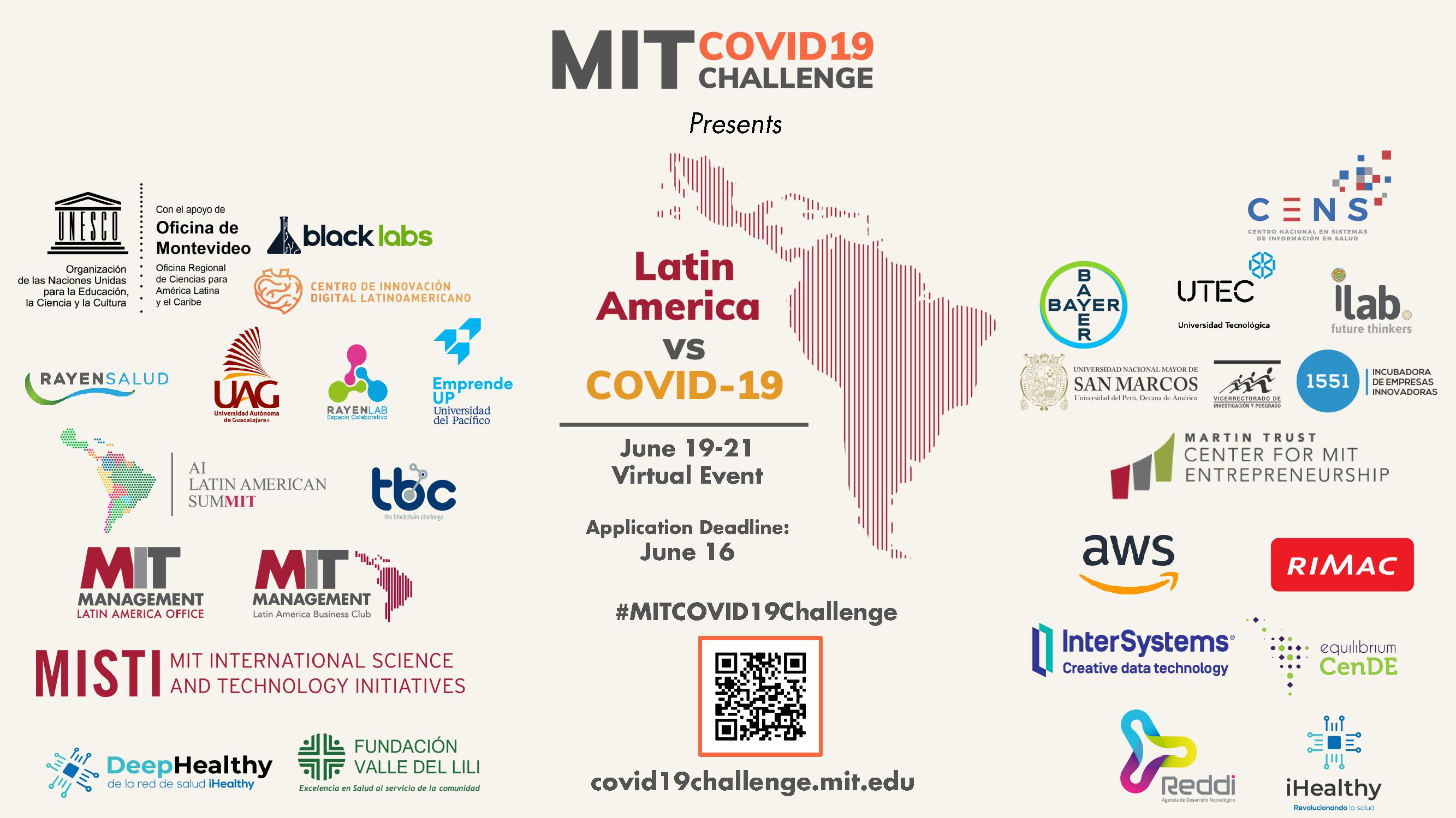 únete covid challenge MIT hackatones virtuales diseña soluciones corto plazo